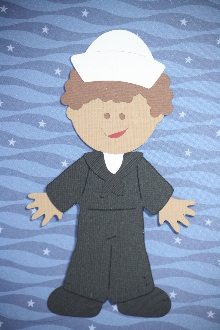 Sailor Paper Doll Dress Blues