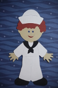 Sailor Paper Doll Dress White Uniform