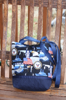 Tote Bag US Navy Themed fabric