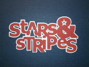 Stars and Stripes Scrapbook Embellishment