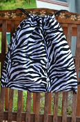 Zebra Print Drawstring Backpack