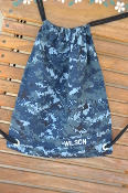 Navy Digital Camo Drawstring Backpack