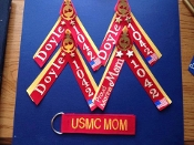 Marine (USMA) Double colored Ribbons with Name and Platoon #