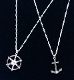 Sterling Silver Anchor OR Ships Wheel Necklace