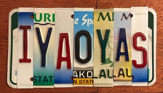 Navy IYAOYAS License Plate sign