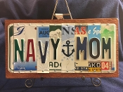 Navy Mom License Plate sign