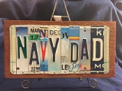 Navy Dad License Plate sign