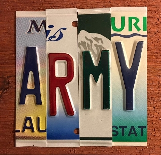Army License Plate sign