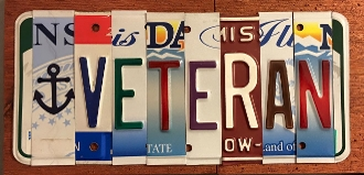 Special Order License Plate sign
