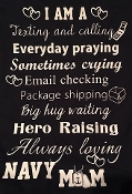 Texting, Praying, Crying..... Navy Mom 2 sided shirt