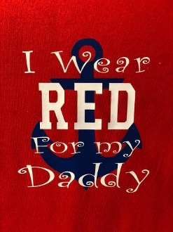 Shirt for Kids, I Wear Red for my Daddy