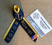 Navy PIR Double colored Ribbons with Name and Division