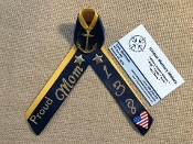 Navy PIR Double Colored Ribbons with Proud Mom/Dad etc