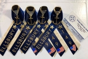 Navy PIR Ribbons with Name, Navy and Gold