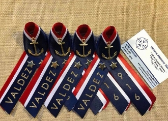 Navy PIR Triple colored Ribbons with Name and Division