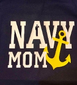 "Navy Mom/Family member Sailor Silhouette ""A"" Shirt"