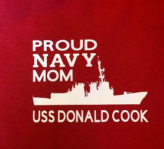 Proud Navy Mom Ship/Carrier/Submarine/ Shirt