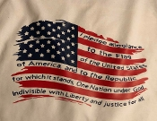 Distressed Flag with Pledge Shirt